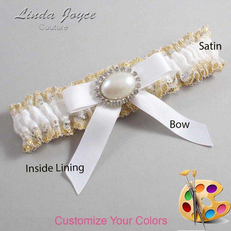 Couture Garters / Custom Wedding Garter / Customizable Wedding Garters / Personalized Wedding Garters / Eva #04-B03-M30 / Wedding Garters / Bridal Garter / Prom Garter / Linda Joyce Couture