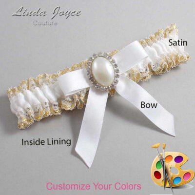 Couture Garters / Custom Wedding Garter / Customizable Wedding Garters / Personalized Wedding Garters / Harmony #04-B03-M31 / Wedding Garters / Bridal Garter / Prom Garter / Linda Joyce Couture