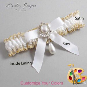 Couture Garters / Custom Wedding Garter / Customizable Wedding Garters / Personalized Wedding Garters / Bethany #04-B03-M32 / Wedding Garters / Bridal Garter / Prom Garter / Linda Joyce Couture