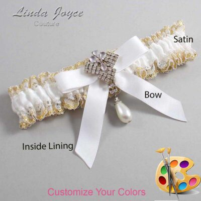 Couture Garters / Custom Wedding Garter / Customizable Wedding Garters / Personalized Wedding Garters / Bridget #04-B03-M33 / Wedding Garters / Bridal Garter / Prom Garter / Linda Joyce Couture