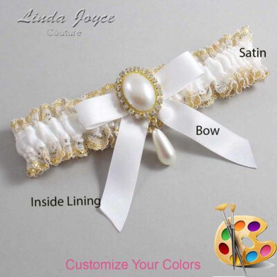 Couture Garters / Custom Wedding Garter / Customizable Wedding Garters / Personalized Wedding Garters / Demi #04-B03-M34 / Wedding Garters / Bridal Garter / Prom Garter / Linda Joyce Couture