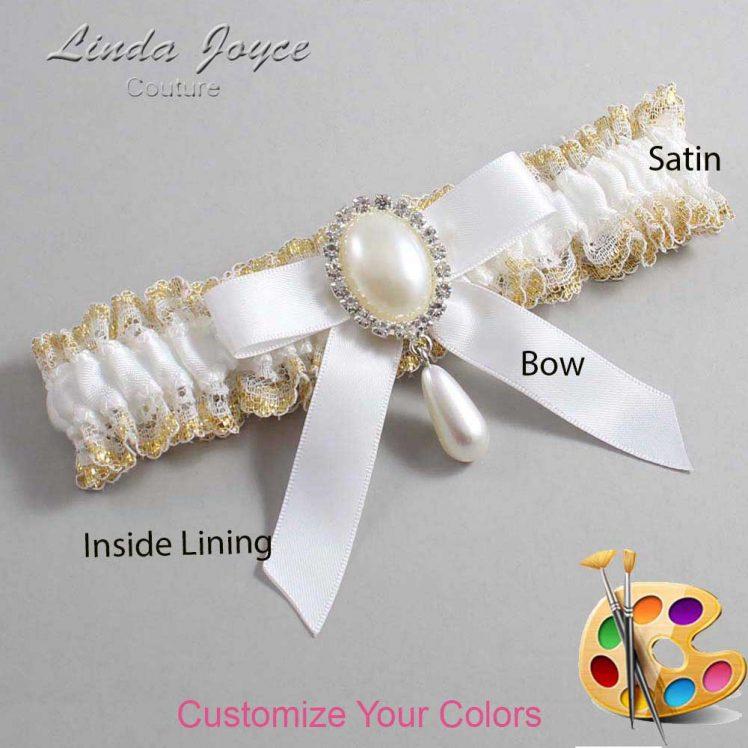 Couture Garters / Custom Wedding Garter / Customizable Wedding Garters / Personalized Wedding Garters / Demi #04-B03-M35 / Wedding Garters / Bridal Garter / Prom Garter / Linda Joyce Couture