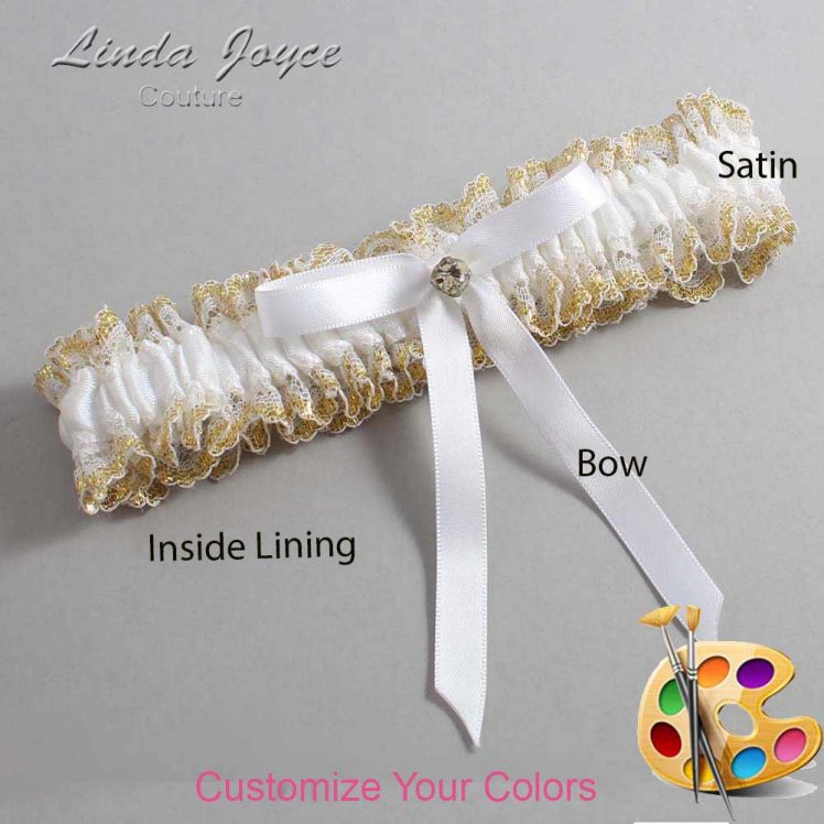 Couture Garters / Custom Wedding Garter / Customizable Wedding Garters / Personalized Wedding Garters / Bridie #04-B04-M03 / Wedding Garters / Bridal Garter / Prom Garter / Linda Joyce Couture