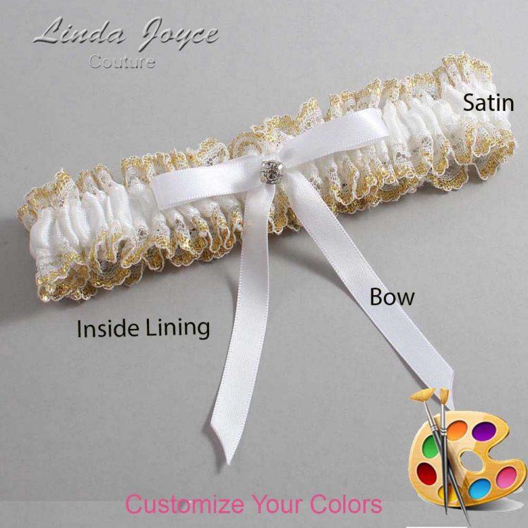 Couture Garters / Custom Wedding Garter / Customizable Wedding Garters / Personalized Wedding Garters / Bridie #04-B04-M04 / Wedding Garters / Bridal Garter / Prom Garter / Linda Joyce Couture