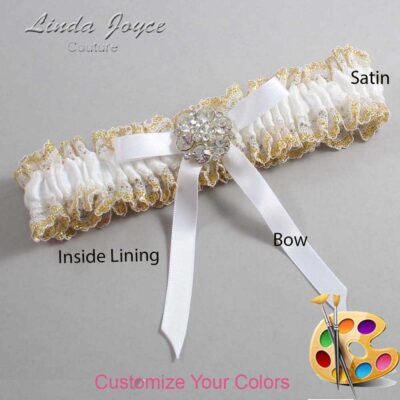Couture Garters / Custom Wedding Garter / Customizable Wedding Garters / Personalized Wedding Garters / Buffy #04-B04-M11 / Wedding Garters / Bridal Garter / Prom Garter / Linda Joyce Couture