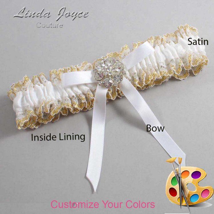 Couture Garters / Custom Wedding Garter / Customizable Wedding Garters / Personalized Wedding Garters / Buffy #04-B04-M11 / Wedding Garters / Bridal Garter / Prom Garter / Linda Joyce Couture