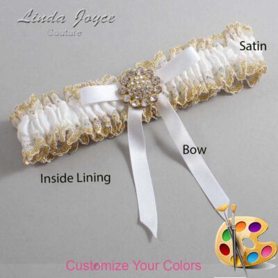 Customizable Wedding Garter / Candi #04-B04-M12-Gold