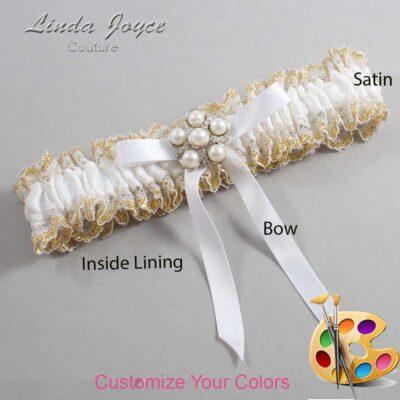 Customizable Wedding Garter / Carmen #04-B04-M13-Silver