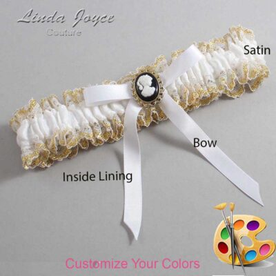 Couture Garters / Custom Wedding Garter / Customizable Wedding Garters / Personalized Wedding Garters / Chloe #04-B04-M15 / Wedding Garters / Bridal Garter / Prom Garter / Linda Joyce Couture