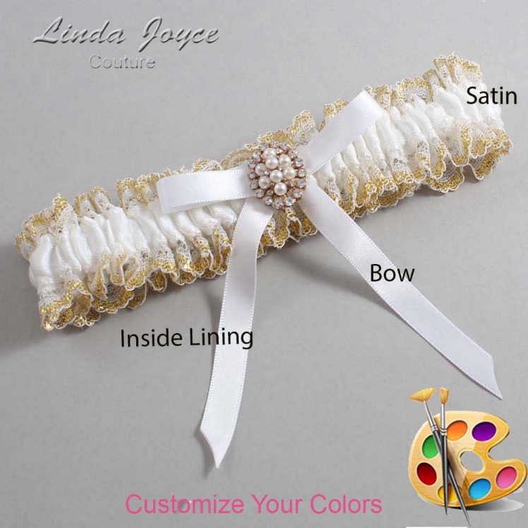 Couture Garters / Custom Wedding Garter / Customizable Wedding Garters / Personalized Wedding Garters / Christy #04-B04-M17 / Wedding Garters / Bridal Garter / Prom Garter / Linda Joyce Couture
