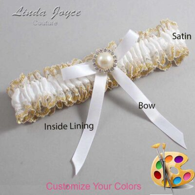 Couture Garters / Custom Wedding Garter / Customizable Wedding Garters / Personalized Wedding Garters / Dixie #04-B04-M22 / Wedding Garters / Bridal Garter / Prom Garter / Linda Joyce Couture
