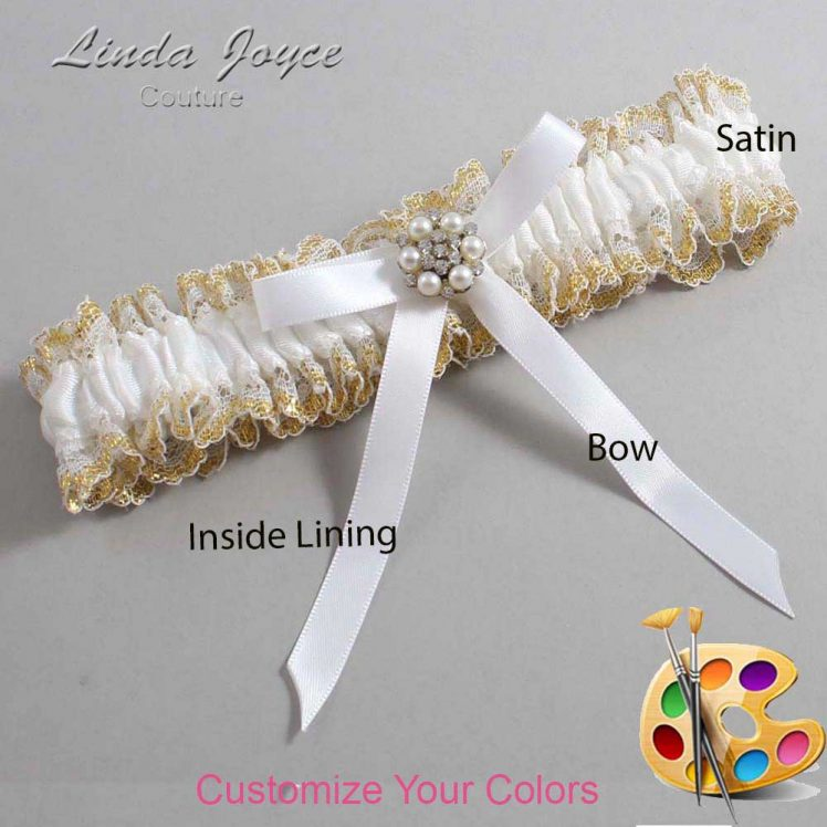 Couture Garters / Custom Wedding Garter / Customizable Wedding Garters / Personalized Wedding Garters / Donna #04-B04-M23 / Wedding Garters / Bridal Garter / Prom Garter / Linda Joyce Couture