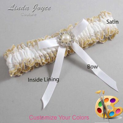 Couture Garters / Custom Wedding Garter / Customizable Wedding Garters / Personalized Wedding Garters / Diana #04-B04-M24 / Wedding Garters / Bridal Garter / Prom Garter / Linda Joyce Couture