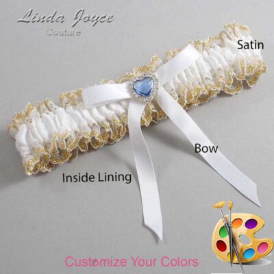 Couture Garters / Custom Wedding Garter / Customizable Wedding Garters / Personalized Wedding Garters / Dovie #04-B04-M25 / Wedding Garters / Bridal Garter / Prom Garter / Linda Joyce Couture