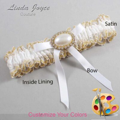 Couture Garters / Custom Wedding Garter / Customizable Wedding Garters / Personalized Wedding Garters / Eliza #04-B04-M28 / Wedding Garters / Bridal Garter / Prom Garter / Linda Joyce Couture
