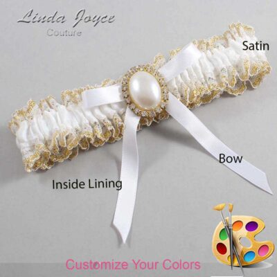 Couture Garters / Custom Wedding Garter / Customizable Wedding Garters / Personalized Wedding Garters / Erin #04-B04-M29 / Wedding Garters / Bridal Garter / Prom Garter / Linda Joyce Couture