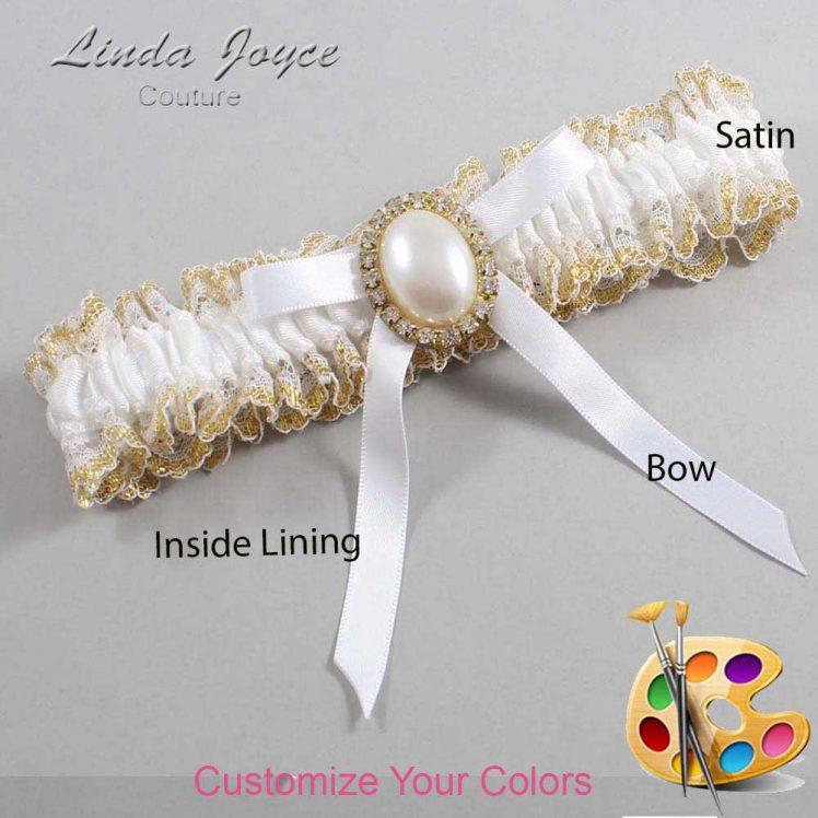 Couture Garters / Custom Wedding Garter / Customizable Wedding Garters / Personalized Wedding Garters / Erin #04-B04-M29 / Wedding Garters / Bridal Garter / Prom Garter / Linda Joyce Couture