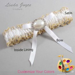 Customizable Wedding Garter / Eliza #04-B04-M30-Silver