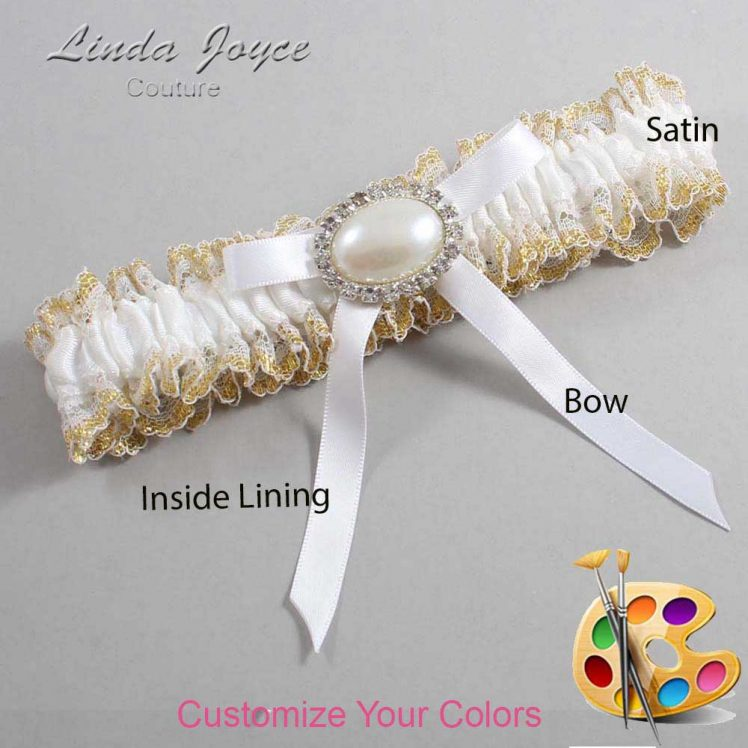 Couture Garters / Custom Wedding Garter / Customizable Wedding Garters / Personalized Wedding Garters / Eliza #04-B04-M30 / Wedding Garters / Bridal Garter / Prom Garter / Linda Joyce Couture