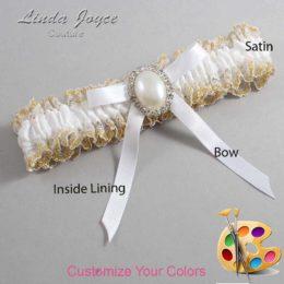 Customizable Wedding Garter / Erin #04-B04-M31-Silver