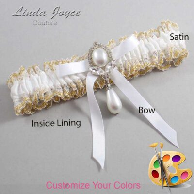 Couture Garters / Custom Wedding Garter / Customizable Wedding Garters / Personalized Wedding Garters / Erika #04-B04-M32 / Wedding Garters / Bridal Garter / Prom Garter / Linda Joyce Couture