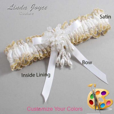 Couture Garters / Custom Wedding Garter / Customizable Wedding Garters / Personalized Wedding Garters / Desiree #04-B04-M38 / Wedding Garters / Bridal Garter / Prom Garter / Linda Joyce Couture