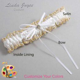 Customizable Wedding Garter / Loise #04-B10-M03-Gold