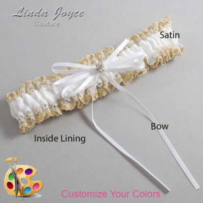 Couture Garters / Custom Wedding Garter / Customizable Wedding Garters / Personalized Wedding Garters / Loise #04-B10-M04 / Wedding Garters / Bridal Garter / Prom Garter / Linda Joyce Couture
