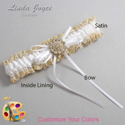 Couture Garters / Custom Wedding Garter / Customizable Wedding Garters / Personalized Wedding Garters / Charlene #04-B10-M12 / Wedding Garters / Bridal Garter / Prom Garter / Linda Joyce Couture