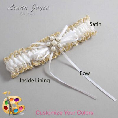 Couture Garters / Custom Wedding Garter / Customizable Wedding Garters / Personalized Wedding Garters / Darci #04-B10-M13 / Wedding Garters / Bridal Garter / Prom Garter / Linda Joyce Couture