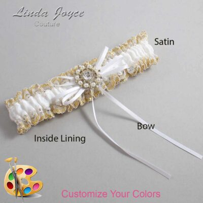 Couture Garters / Custom Wedding Garter / Customizable Wedding Garters / Personalized Wedding Garters / Dawn #04-B10-M14 / Wedding Garters / Bridal Garter / Prom Garter / Linda Joyce Couture
