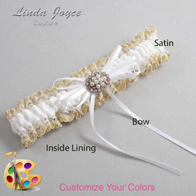 Couture Garters / Custom Wedding Garter / Customizable Wedding Garters / Personalized Wedding Garters / Belinda #04-B10-M16 / Wedding Garters / Bridal Garter / Prom Garter / Linda Joyce Couture