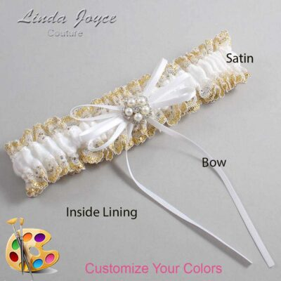 Couture Garters / Custom Wedding Garter / Customizable Wedding Garters / Personalized Wedding Garters / Gail #04-B10-M20 / Wedding Garters / Bridal Garter / Prom Garter / Linda Joyce Couture