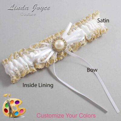 Couture Garters / Custom Wedding Garter / Customizable Wedding Garters / Personalized Wedding Garters / Faith #04-B10-M21 / Wedding Garters / Bridal Garter / Prom Garter / Linda Joyce Couture
