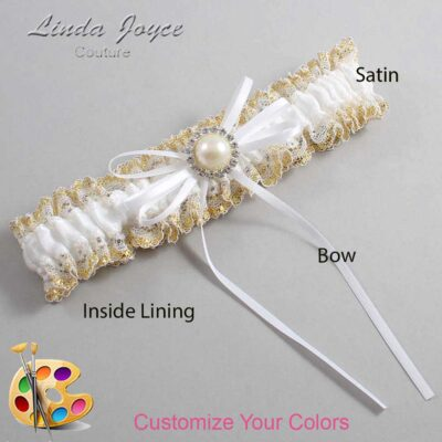 Couture Garters / Custom Wedding Garter / Customizable Wedding Garters / Personalized Wedding Garters / Faith #04-B10-M22 / Wedding Garters / Bridal Garter / Prom Garter / Linda Joyce Couture
