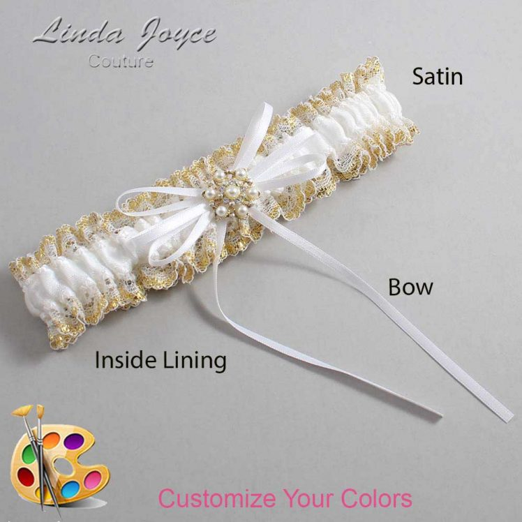 Couture Garters / Custom Wedding Garter / Customizable Wedding Garters / Personalized Wedding Garters / Helen #04-B10-M27 / Wedding Garters / Bridal Garter / Prom Garter / Linda Joyce Couture