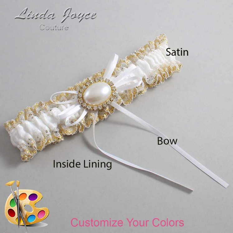 Couture Garters / Custom Wedding Garter / Customizable Wedding Garters / Personalized Wedding Garters / Jacque #04-B10-M28 / Wedding Garters / Bridal Garter / Prom Garter / Linda Joyce Couture