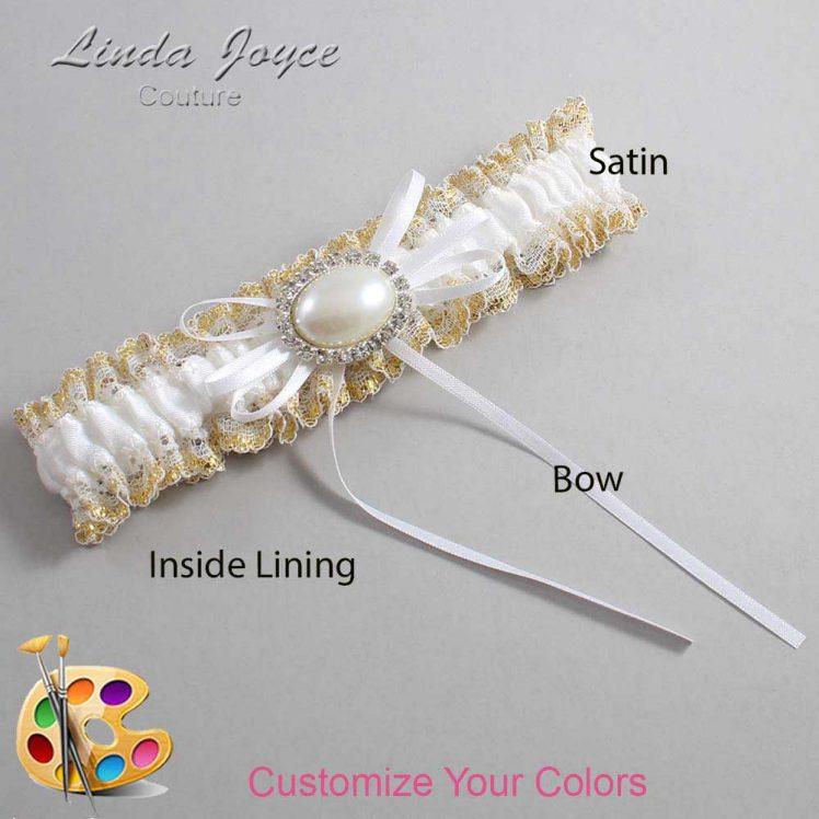 Couture Garters / Custom Wedding Garter / Customizable Wedding Garters / Personalized Wedding Garters / Jacque #04-B10-M30 / Wedding Garters / Bridal Garter / Prom Garter / Linda Joyce Couture