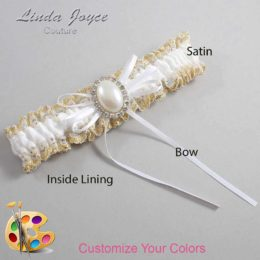Customizable Wedding Garter / Evonne #04-B10-M31-Silver