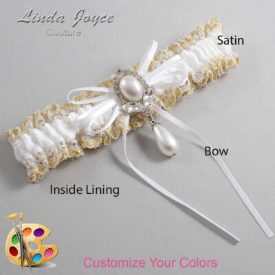 Couture Garters / Custom Wedding Garter / Customizable Wedding Garters / Personalized Wedding Garters / JoAnn #04-B10-M32 / Wedding Garters / Bridal Garter / Prom Garter / Linda Joyce Couture