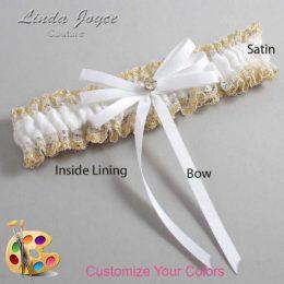Customizable Wedding Garter / Audry #04-B11-M03-Gold