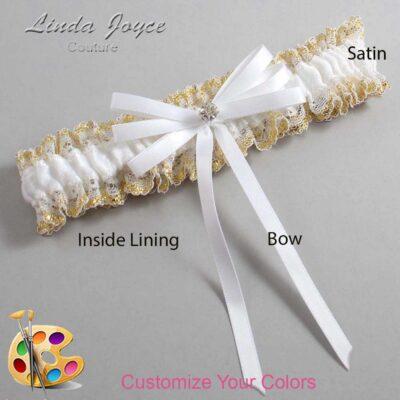 Customizable Wedding Garter / Audry #04-B11-M04-Silver