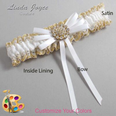 Couture Garters / Custom Wedding Garter / Customizable Wedding Garters / Personalized Wedding Garters / Bambi #04-B11-M12 / Wedding Garters / Bridal Garter / Prom Garter / Linda Joyce Couture