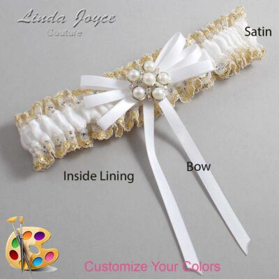Couture Garters / Custom Wedding Garter / Customizable Wedding Garters / Personalized Wedding Garters / Bailey #04-B11-M13 / Wedding Garters / Bridal Garter / Prom Garter / Linda Joyce Couture