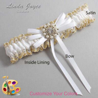 Couture Garters / Custom Wedding Garter / Customizable Wedding Garters / Personalized Wedding Garters / Caitlin #04-B11-M14 / Wedding Garters / Bridal Garter / Prom Garter / Linda Joyce Couture
