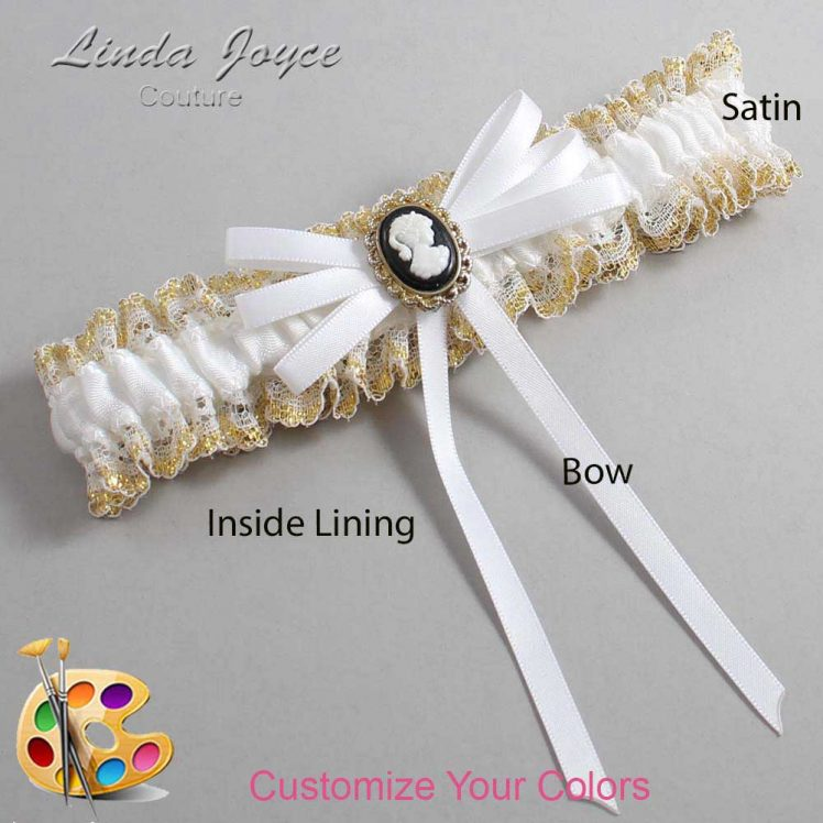 Couture Garters / Custom Wedding Garter / Customizable Wedding Garters / Personalized Wedding Garters / Carli #04-B11-M15 / Wedding Garters / Bridal Garter / Prom Garter / Linda Joyce Couture
