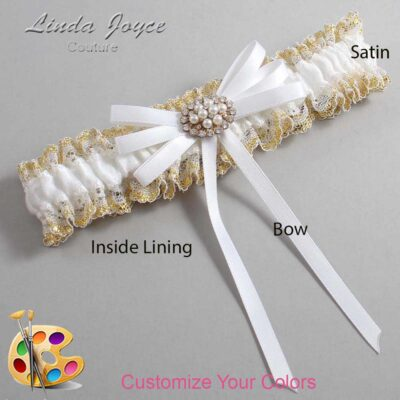 Couture Garters / Custom Wedding Garter / Customizable Wedding Garters / Personalized Wedding Garters / Cheryl #04-B11-M16 / Wedding Garters / Bridal Garter / Prom Garter / Linda Joyce Couture