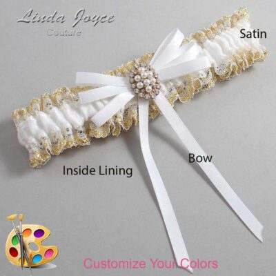 Couture Garters / Custom Wedding Garter / Customizable Wedding Garters / Personalized Wedding Garters / Chrissy #04-B11-M17 / Wedding Garters / Bridal Garter / Prom Garter / Linda Joyce Couture
