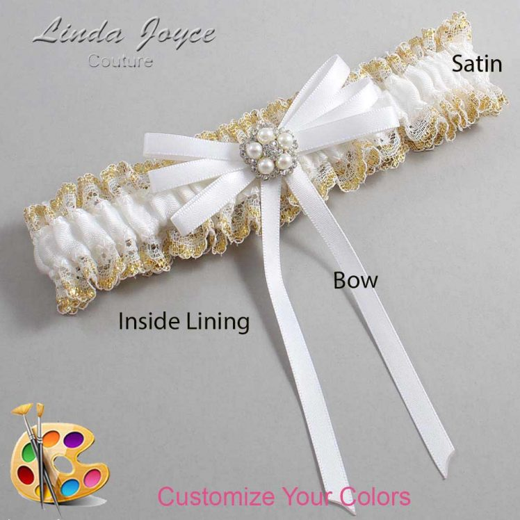 Couture Garters / Custom Wedding Garter / Customizable Wedding Garters / Personalized Wedding Garters / Danielle #04-B11-M20 / Wedding Garters / Bridal Garter / Prom Garter / Linda Joyce Couture