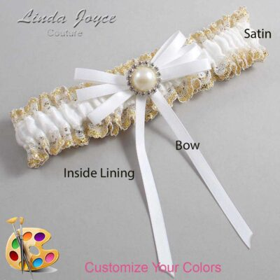 Couture Garters / Custom Wedding Garter / Customizable Wedding Garters / Personalized Wedding Garters / Delta #04-B11-M22 / Wedding Garters / Bridal Garter / Prom Garter / Linda Joyce Couture